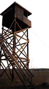 Fågeltornet på Forshagasidan av Norra Hyn. Foto och bildbehandling: Cicci Wik